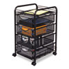 Safco Safco® Onyx™ Mesh Mobile File with Four Supply Drawers SAF 5214BL