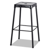 chairs & sofas: Bar-Height Steel Stool, Black