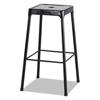 Safco Bar-Height Steel Stool, Black SAF 6606BL