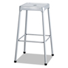 chairs & sofas: Bar-Height Steel Stool, Silver