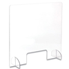 Safco Safco Portable Acrylic Sneeze Guard with Document Pass Through SAF 7500CL