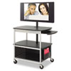 Safco Safco® Scoot™ Open Flat Panel Multimedia Cart SAF 8940BL