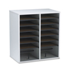 Safco Safco® Adjustable Compartment Wood Literature Organizers SAF 9422GR