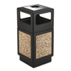 Safco-with-hooded-top: Safco® Canmeleon™ Aggregate Panel Receptacles