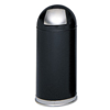 Safco Safco® Dome Top Receptacle with Spring-Loaded Door SAF 9636BL