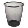 Safco Safco® Onyx™ Round Mesh Wastebaskets SAF9717BL