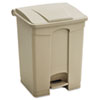 Safco-trash-receptacles: Safco® Large Capacity Plastic Step-On Receptacle