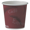 Dart Dart® Single-Sided Poly Paper Hot Cups in Bistro® Design SCC 374SI