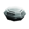 plastic containers: Solo OctaView Hinged-Lid Hot Food Containers