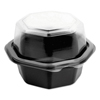 plastic containers: Dart® OctaView® Hinged-Lid Cold Food Containers