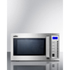 Summit Appliance Commercially Approved Microwave with Stainless Steel Exterior and Interior SMA SCM1000SS