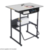 Safco AlphaBetter® Desk, 36 x 24 Premium Top, with Book Box SFC 1209GR