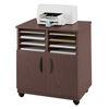 carts and stands: Safco - Mobile Laminate Machine Stand with Sorter Compartments