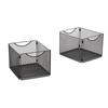 Safco Onyx™  Mesh Cube Bins SFC 2173BL