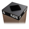 Safco Public Square® Recycling Lids for Plastic SFC 2989BL