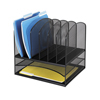 Safco Onyx™ Mesh Desk Organizer With Two Horizontal/Six Upright Sections SFC 3255BL