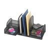 Safco Onyx™ Mesh Desk Organizer with Three Vertical Sections/Two Baskets SFC 3263BL