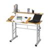 computer workstations: Safco - Height Adjustable Split Level Workstation
