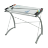 Tables: Safco - Xpressions™ Glass Top Drafting Table