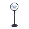 Safco WriteWay™ Double-Sided Dry Erase Standing Message Sign SFC 4118BL
