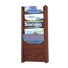 Safco Solid Wood Wall-Mount Literature Display Rack SFC 4330MH