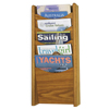 Safco Solid Wood Wall-Mount Literature Display Rack SFC 4330MO