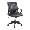 Safco Priya™ Leather Executive Mid Back Chair SFC 5076BL