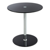 Tables: Safco - Glass Accent Table - Black