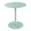 Tables: Safco - Glass Accent Table - White