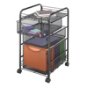 Safco Onyx™ Mesh Mobile File with Two Supply Drawers SFC 5213BL