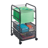 Safco Onyx™ Mesh Open File with Drawers SFC 5215BL