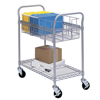 Safco Heavy-Duty Steel Wire Mail Cart SFC 5235GR