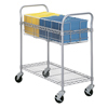Safco Heavy-Duty Steel Wire Mail Cart SFC 5236GR