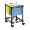 Safco Compact Mobile Wire File Cart SFC 5277BL