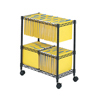 Safco Two-Tier Rolling File Cart SFC 5278BL