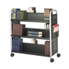 Cake Pie Covers Stands: Safco - Scoot™ Double-Sided Steel Book Cart