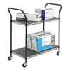 Safco Two Shelf Wire Utility Cart SFC 5337BL