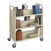 book carts: Safco - Steel Double-Sided 6-Shelf Book Cart