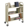Safco Steel 3-Shelf Single-Sided Book Cart SFC 5358SA