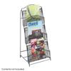 Safco Onyx™ Floor Rack 3 Pocket SFC 6460BL