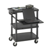 Safco Three Shelf Multimedia Cart SFC 8929BL