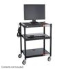 Safco Adjustable Height Steel AV Cart SFC 8932BL