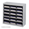 Safco E-Z Stor® Steel Project Organizer, 18 Compartments SFC 9264GR