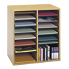 Safco Adjustable Compartment Wood Literature Organizers SFC 9422MO