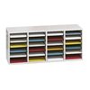 Safco Adjustable Compartment Wood Literature Organizers SFC 9423GR