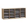 Safco Adjustable Compartment Wood Literature Organizers SFC 9423MO