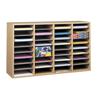 Safco Adjustable Compartment Wood Literature Organizers SFC 9424MO