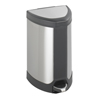 Safco-trash-receptacles: Safco - Stainless Step-On 7 Gallon Receptacle