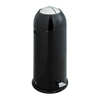 Safco-trash-receptacles: Safco - Shutter Can Black - 14 Gallon