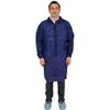 Safety Zone Blue Polypropylene Economy Lab Coat, 3 Pockets, Elastic Wrists SFZ DLBL-MD-E-EW